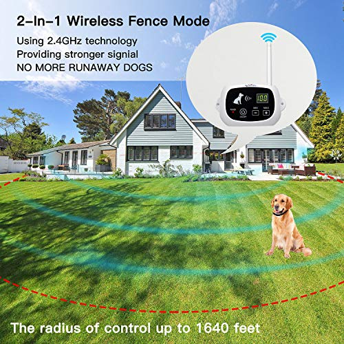 NACRL Wireless Dog Fence, Pet Containment System, Up to 1640 Feet Control Range, Waterproof,...