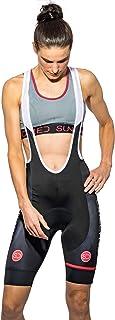 Sundried Womens Padded Bib Shorts Road Bike and Mountain Bike Cycling Clothing