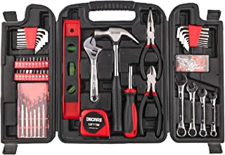 Decare 136 Piece Tool Kit, Household Tool Kit, Versatile Tool Set, with Sturdy Portable Plastic Toolbox, Tool Kit for Women