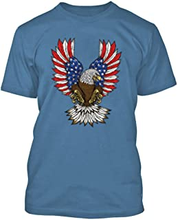 CRAZYDAISYWORLD American Eagle Flag Men's T-Shirt