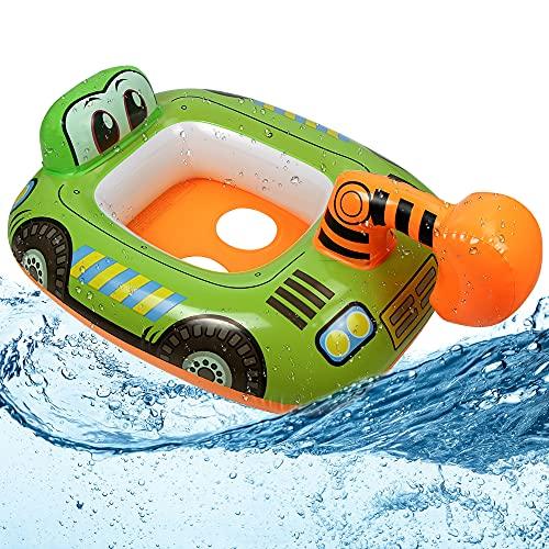 O-Kinee Baby Schwimmring, Baby Float schwimmreifen, Aufblasbarer Automobil Schwimmring, Kinder Schwimmreifen Spielzeug, Schwimmsitz Kleinkinder, Baby Schwimmring mit Schwimmsitz