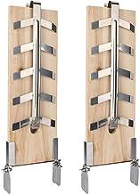 wolketon 2er-Set Flammlachsbrett Räucherbrett,5 Stufen einstellbar,Lachs bis 2,5kg,für Feuerschale, Feuertonne, Feuerkorb, Smoker, Grill, Gastronomie