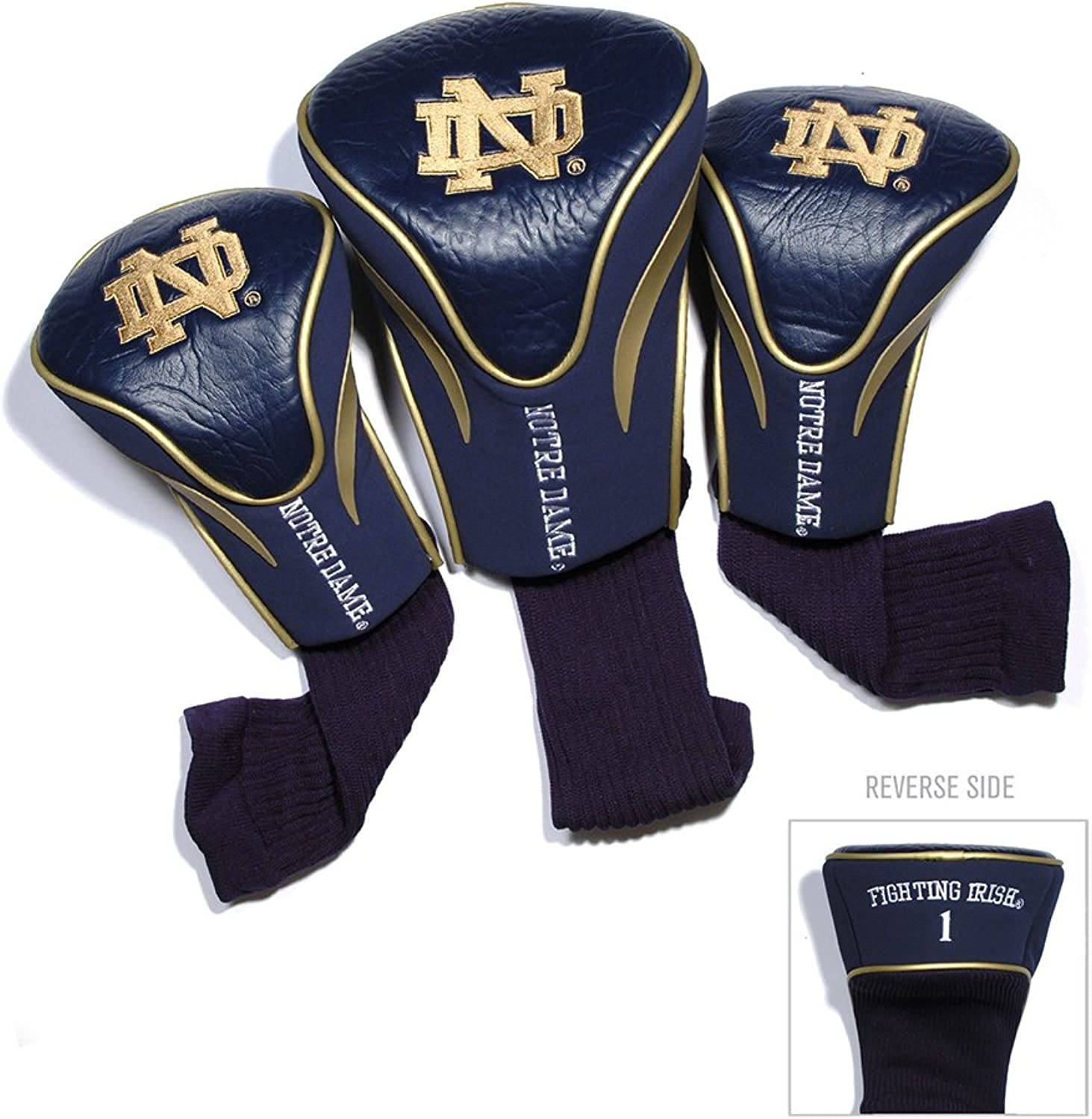 Notre Dame Fighting Irish NCAA 3 Pack Contour Fit Headcover