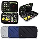 Portable Travel Gopro Bag Carrying Case for AKASO EK5000 EK7000 4K WiFi Action Camera Gopro Hero 6, 5, 4, 3+, 3, 2, 1 Accessories and Security Bag(Large-Black)