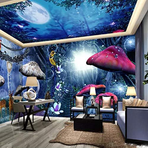 Schlafzimmer Hintergrundbild Fantasy Forest Full House Hintergrund Wand Hotelzimmer Thema Raum Schlafzimmer Hintergrund fototapete 3d effekt tapete tapeten wald vintage wandbild wandbi-300cm×210cm