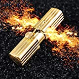 Antique Style Oil Lighter,Metal Pure Copper Lighter with Ejection Ignition, Replaceable Flint Refillable Cool Lighters
