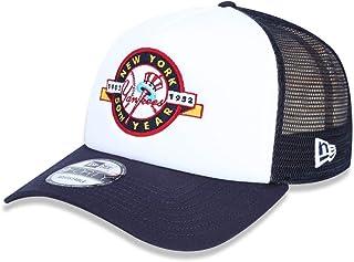 adf7a579eee85 BONE 940 NEW YORK YANKEES MLB ABA RETA BRANCO MARINHO NEW ERA