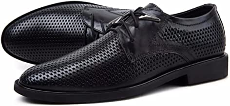 Men's Hollow Out Breathable Regan Oxford Full Brogue Brodie Leather Shoes in Goodyear Welted Construction