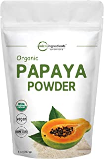 Micro Ingredients Organic Papaya Fruit Powder, 8 Ounce (227 Gram), Powerfully Supports Antioxidant and Digestive Function, No GMOs and Vegan Friendly
