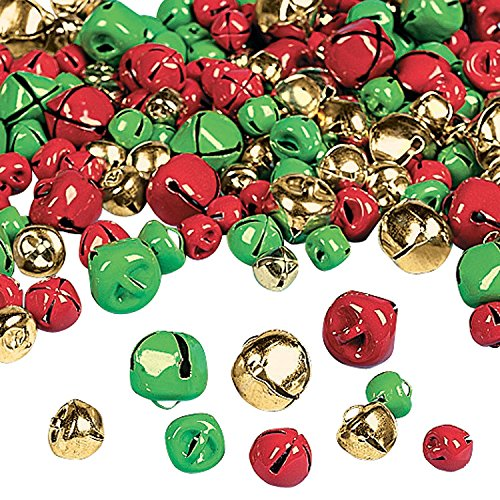 Fun Express Christmas Jingle Bells | 2-Pack | 400 Total Count | Great for Christmas Parties, Holiday Celebrations, and Yuletide-Embellishments