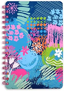 Doodle Happiness Journal - Impressionist Hard Bound Undated A5 Wiro Bound Planner Diary   216 Pages   Tear Away Note Cards...