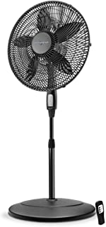 Air Monster Stand Fan - 18 Inch Remote Control Oscillating Pedestal Stand Fan with 3 Speed Settings, Adjustable Height, Adjustable Tilt - ETL Listed, Black