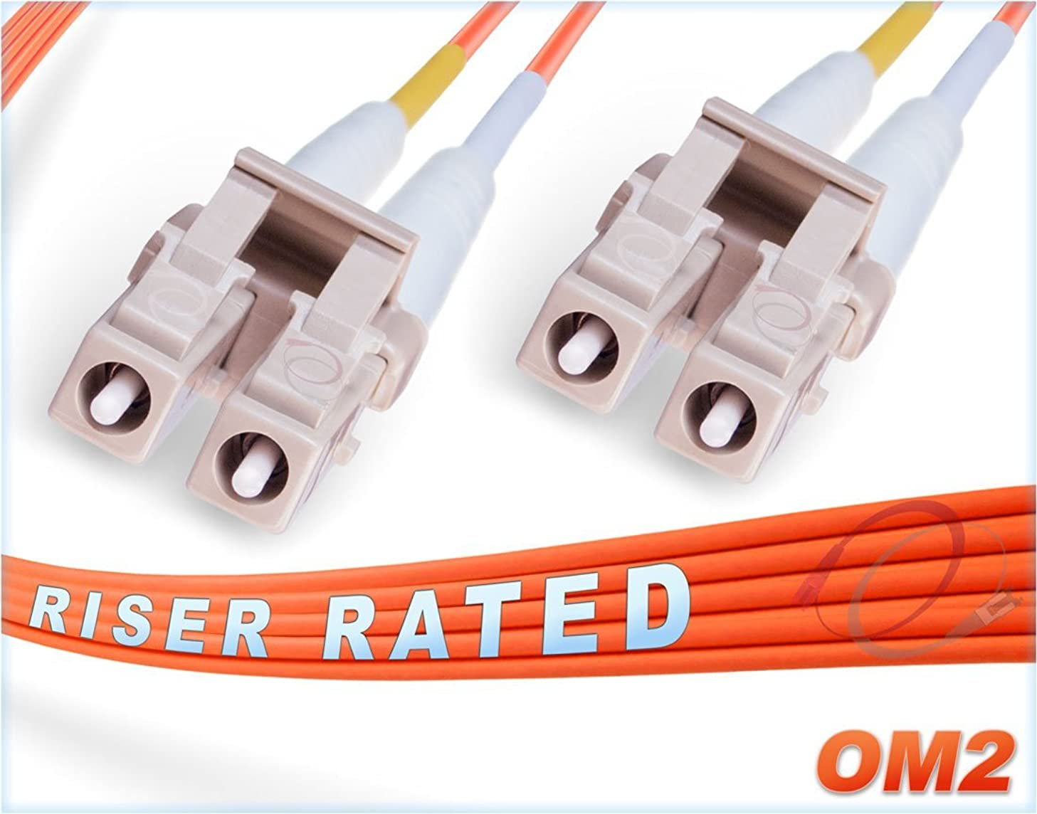FiberCablesDirect - 10M OM2 LC LC Fiber Patch Cable | 1Gb Duplex 50/125 LC to LC Multimode Jumper 10 Meter (32.8ft) | Length Options: 0.5M - 300M | 1gb 10gb mmf lcupc sfp 1gbase mm dplx pvc ofnr lc-lc