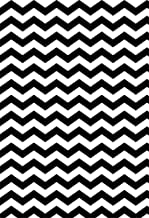 Laeacco 5x7FT Chevron Photography Backdrop Abstract Seamless Pattern with Black and White Ornate Broken Lines Grunge Background Girls Boys Lovers Friends Photo Studio Shoot Background Backdrop