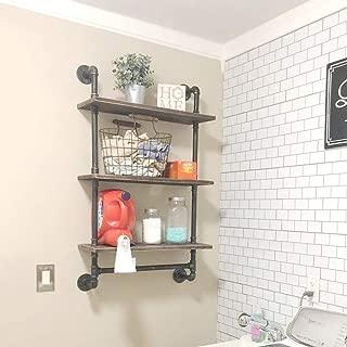 Ucared 3-Tier Vintage Industrial Pipe Bathroom Shelves Wall Mounted,24