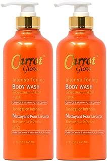 Carrot Glow Intense Toning Body Wash 27oz (Pack of 2)