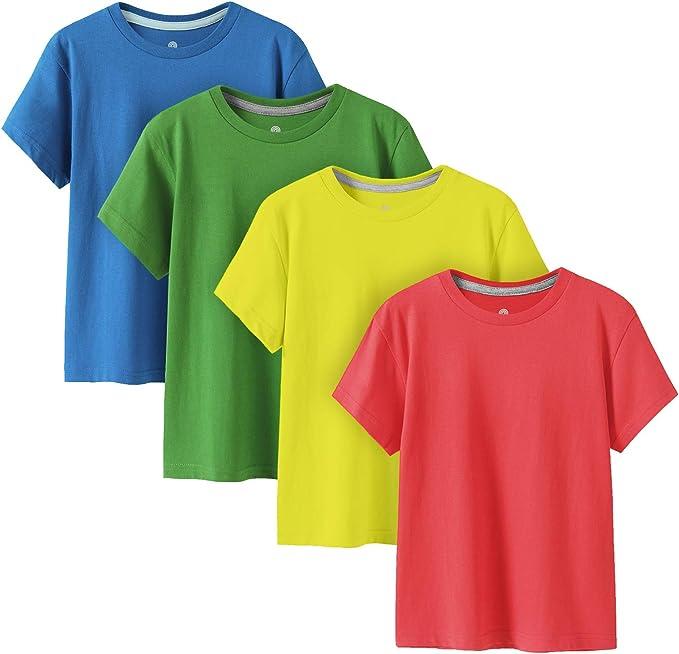 935 opinioni per LAPASA 100% Cotone Maglietta a Manica Corta Bambini Unisex Multi-Colore Pacco da