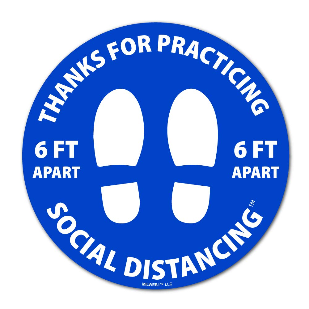 Milweb1-10 Pack Thanks for Practicing Feet All stores are sold A Social Distancing Complete Free Shipping 6
