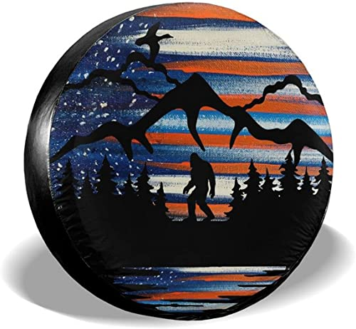 """high quality Gwomo Bigfoot American Flag Tree Spare Tire Cover Wheel Protectors Tyre lowest Covers Weatherproof Wheel Covers Universal Fit for Trailer Rv SUV Truck Camper Travel Trailers new arrival 14"""" 15"""" 16"""" 17"""" online sale"""