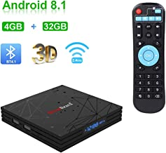 Greatlizard Android 8.1 T9 TV Box 4GB DDR3 32GB EMMC Quad Core 32bit Support 4K HD 2.4G WiFi Bluetooth
