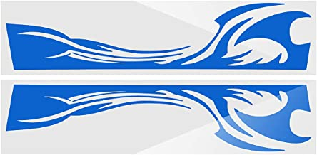 Pair Universal Car Racing Sports Body Vinyl Decal Sticker Emblem Bandage For SUV (Blue)