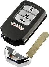 (No Electronics) Key Fob Keyless Entry Smart Remote Shell Case & Pad fits Honda Accord, Civic, CR-V, CR-Z, HR-V, Pilot