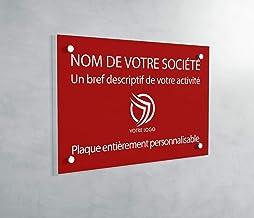 Professionele PVC-plaat, personaliseerbaar, 30 x 20 cm, verkrijgbaar in 21 kleuren (rood)