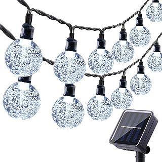 Solar Garden Lights Outdoor, 36ft 60 LED Solar String Lights Waterproof, Solar Powered Crystal Ball Indoor/Outdoor Fairy L...