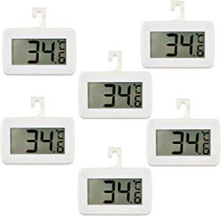 6 PACK Digital Refrigerator Thermometer, Waterproof Freezer Room Thermometer,High Precision Fridge Alarm Thermometer with ...