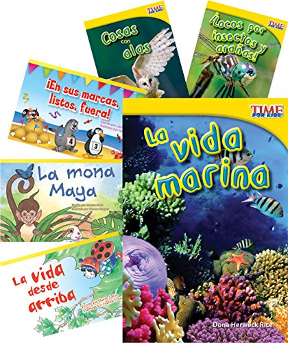 Teacher Created Materials - Classroom Library Collections: Grupos de animales (Animal Groups) - 6 Book Set - Grade 1 - Guided Reading Level F