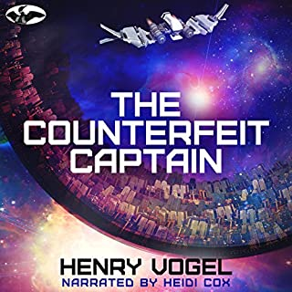 The Counterfeit Captain audiobook cover art