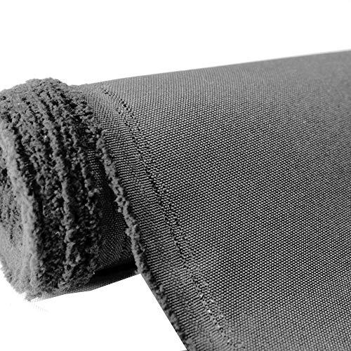 Mybecca Canvas Marine Oxford Polyester Stoff Kohle 90 cm (Zuschnitt nach Yard für Prime Bestellungen)