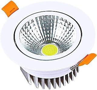 Modenny Foco empotrable montado en LED Ángulo de luz Luz de techo redonda ajustable 3000K 4000K Luz de abajo del panel de aluminio ultra delgado Iluminación comercial Luz de techo ultra brillante De Iluminación empotrable