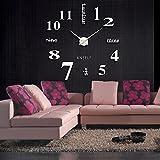 Anself - Reloj de pared de decoración, pegatinas de efecto espejo, cristal acrílico