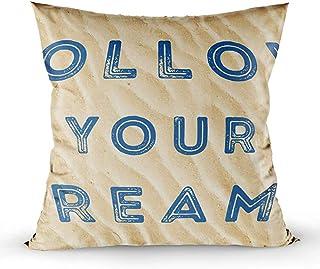 Ducan Lincoln Pillow Case 2PC 18X18,Funda De Almohada,Fundas De Funda De Almohada De Tiro Cuadrado,Póster Motivacional Slogan Inspirador De Your Dreams Cojín De Ambos Lados