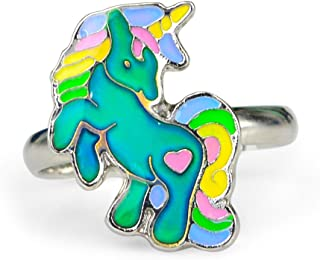Cute Fairy Tale Unicorn Color Change Mood Ring for Girls Size Adjustable