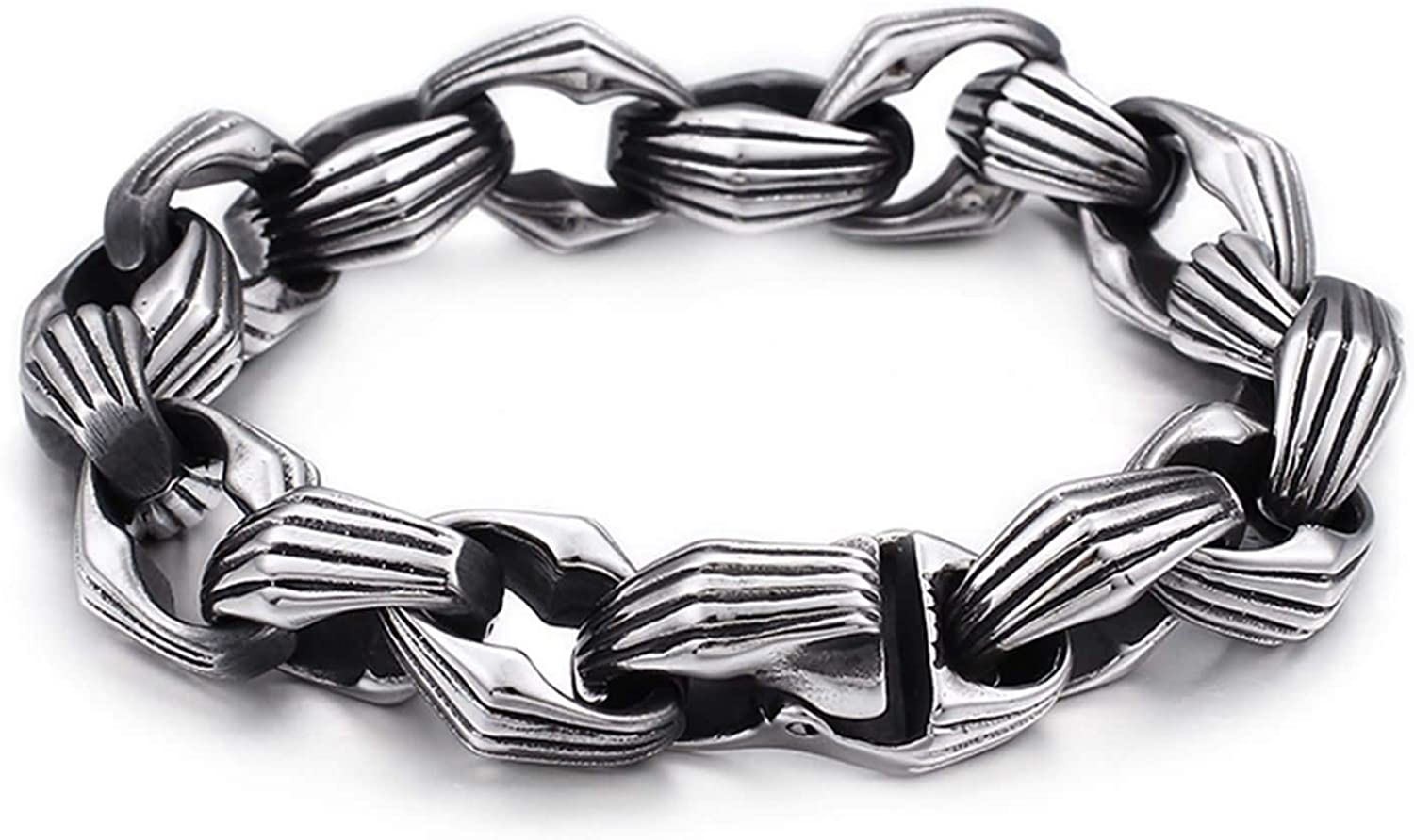 Daesar Men Bracelet Stainless Genuine Free Shipping Silver Chain Dealing full price reduction Steel Charms