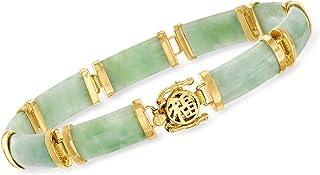 """Ross-Simons Jade""""Good Fortune"""" Bracelet in 18kt Gold Over Sterling"""