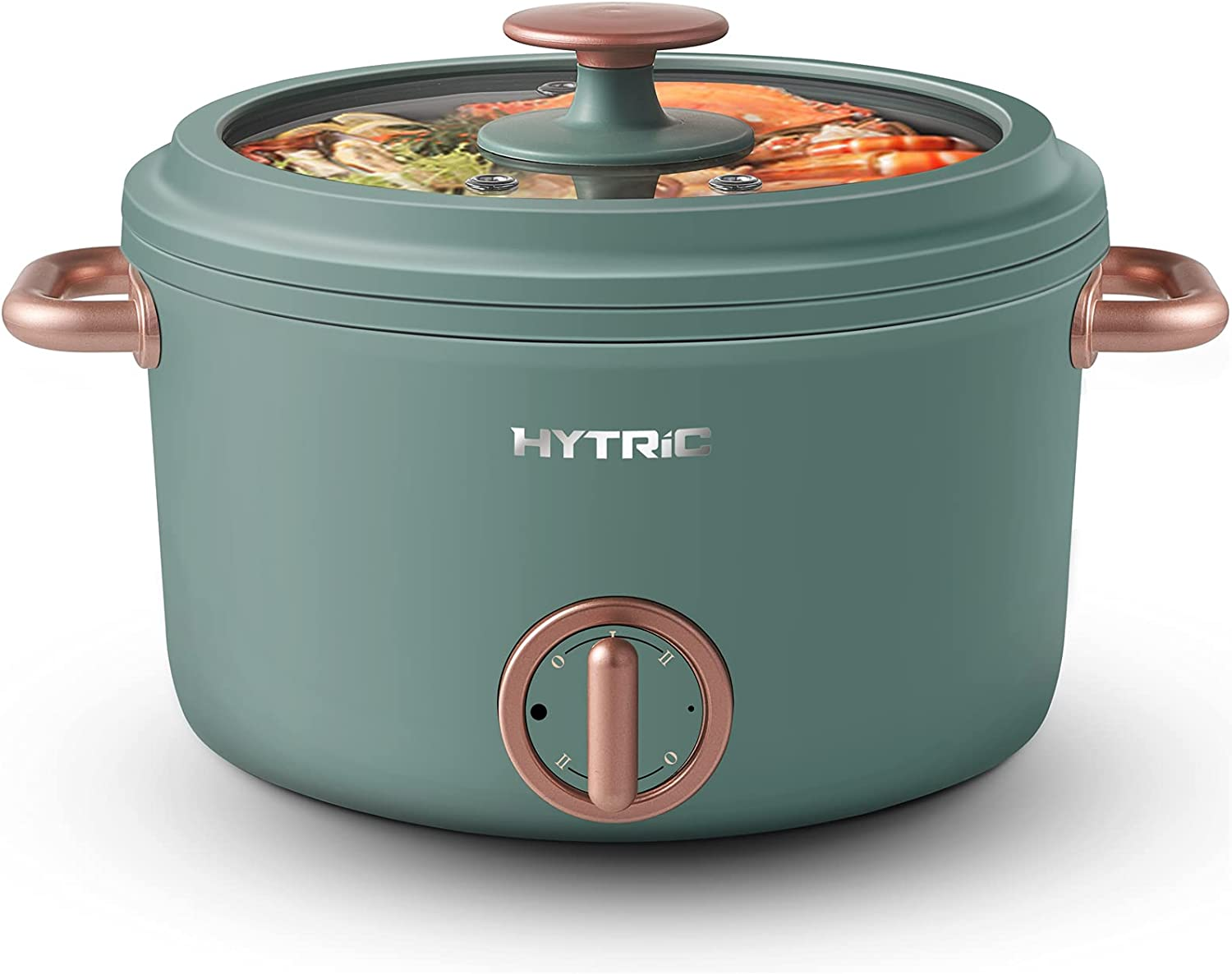 Hytric Electric Hot Pot, 2.5L Portable Electric Skillet with Nonstick Coating, Dual Power Control Multi-Function Electric Cooker for Stir Fry, Steak, Noodles, Ramen Cooker for Dorm and Office