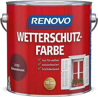Renovo Wetterschutzfarbe 0,75 L schwedenrot RAL 3103
