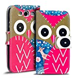 Verco Handyhülle Galaxy S3 Neo Muster, Motiv Hülle für Samsung Galaxy S3 Book Hülle Flip Cover - Design 17