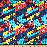 Marvel Spiderman Swing Multi, Quilt-Stoff, Meterware