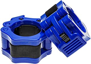 1 Pair 50mm Quick Release Barbell Lock Collar, Blue