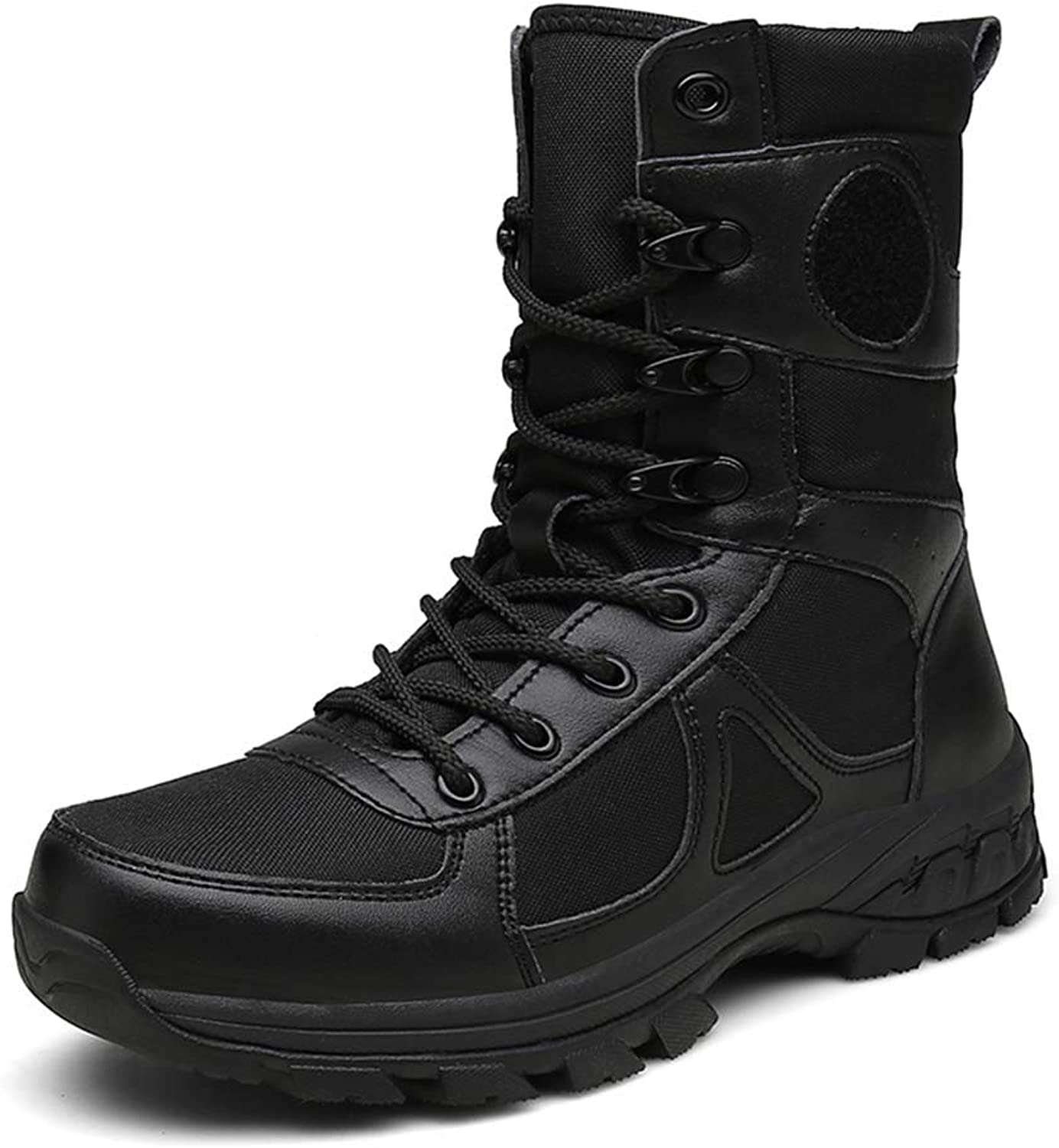 4b7131f7a05 Men's Tactical Boots Waterproof Breathable Boots Wear-Resistant Non ...