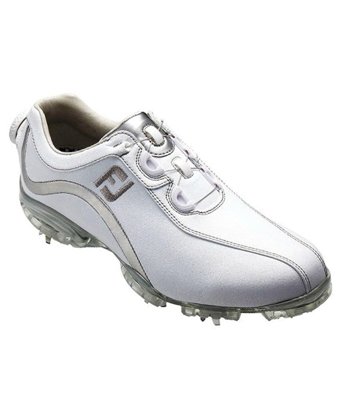 まだらふくろう注目すべきフットジョイ Foot Joy 13 WOリールフィットシューズ レディス 93809 ホワイト/シルバー 23.5cm