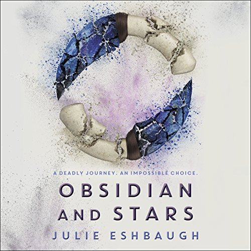 Obsidian and Stars audiobook cover art
