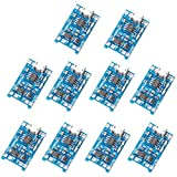 MUZOCT 10pcs 1A 5V Micro USB 18650 TP4056 Lithium Battery Power Charger Board Module TE420.