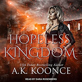 Hopeless Kingdom     Hopeless Series, Book 2              Written by:                                                                                                                                 A.K. Koonce                               Narrated by:                                                                                                                                 Dara Rosenberg                      Length: 4 hrs and 10 mins     Not rated yet     Overall 0.0