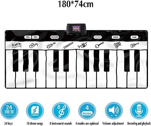 40% de descuento TTGE Alfombra Musical Alfombra de Piano Piano Piano 24 Teclas + 10 Canciones Demo + 4 Modos Juguete Musical de educación Infantil, 180  74 cm.  comprar ahora