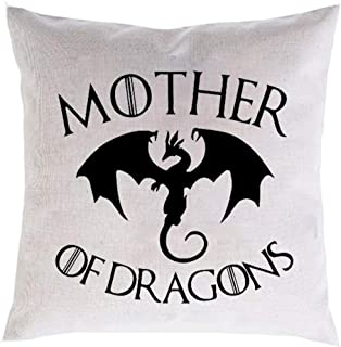 FaceYee Mother of Dragons Pillow Covers Game of Thrones Decor Daenerys Targaryen Cushion Covers Two Side Color:Game of Thrones